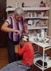 Criança Caiagangue sendo atendida no PS da Reserva